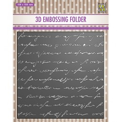 (EF3D029)Nellie's Choice Embossing folder Writing