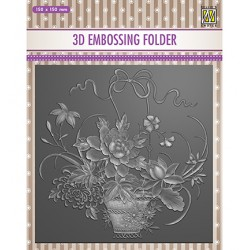 (EF3D030)Nellie's Choice Embossing folder Flower bouquet