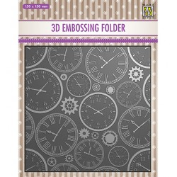 (EF3D031)Nellie's Choice Embossing folder Time