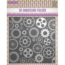 (EF3D032)Nellie's Choice Embossing folder Corwheels
