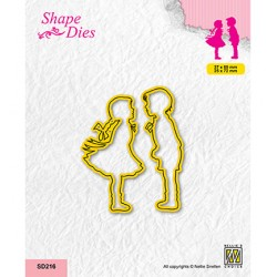 (SD216)Nellie's shape dies Girl and boy