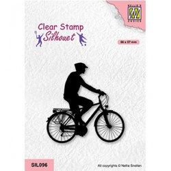 (SIL096)Nellie`s Choice Clearstamp - Cycling