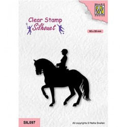 (SIL097)Nellie`s Choice Clearstamp - Equestrian sport