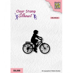 (SIL098)Nellie`s Choice Clearstamp - Cycling-2