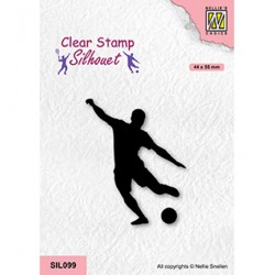 (SIL099)Nellie`s Choice Clearstamp - Soccer player