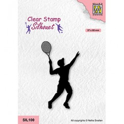 (SIL100)Nellie`s Choice Clearstamp - Tennis player