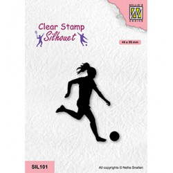 (SIL101)Nellie`s Choice Clearstamp - Woman soccer