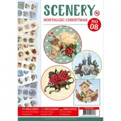 (POS10008)Push Out book Scenery 8 - Nostalgic Christmas