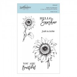 (STP-017)Spellbinders Hello Sunflower Clear Stamp