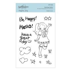 (STP-039)Spellbinders Darling Hello Clear Stamp