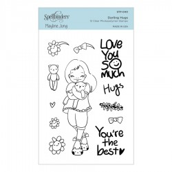 (STP-040)Spellbinders Darling Hugs Clear Stamp