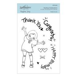 (STP-041)Spellbinders Darling Celebration Clear Stamp