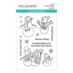 (STP-052)Spellbinders Friendly Snowmen Clear Stamp