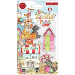 (CCSTMP065)Craft Consortium Sandy Paws Ice Cream Clear Stamps