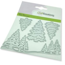 (115633/0452)CraftEmotions Die - Christmas trees Card 11x9cm