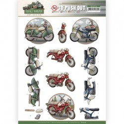 (SB10574)3D Push Out - Amy Design - Vintage Transport - Moped