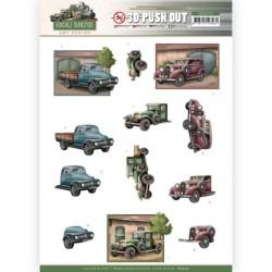 (SB10575)3D Push Out - Amy Design - Vintage Transport - Truck