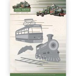 (ADD10252)Dies - Amy Design - Vintage Transport - Train