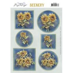 (CDS10037)Scenery - Amy Design - Aquarella - Sunflowers
