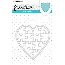 (SL-ES-CD74)Studio Light SL Cutting Die Puzzle heart Essentials nr.74