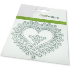 (115633/0449)CraftEmotions Die - border heart magic stars Card 11x9cm