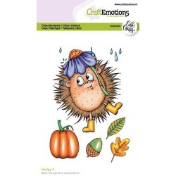 (1518)CraftEmotions clearstamps A6 - Hedgy 3 Carla Creaties