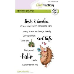(1519)CraftEmotions clearstamps A6 - Hedgy teksten (NL) Carla Creaties