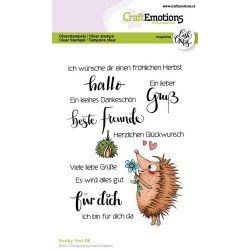 (1520)CraftEmotions clearstamps A6 - Hedgy Text (DE) Carla Creaties