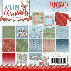 (YCPP10040)Paperpack - Yvonne Creations - Wintery Christmas