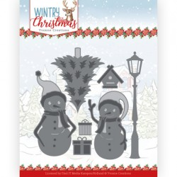(YCD10244)Dies - Yvonne Creations - Wintery Christmas - Snow Friends
