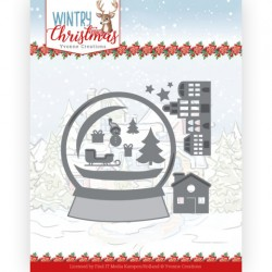 (YCD10247)Dies - Yvonne Creations - Wintery Christmas - Snowman in snow globe