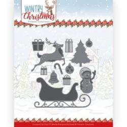 (YCD10248)Dies - Yvonne Creations - Wintery Christmas - Ho, ho, ho snowman