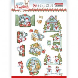 (SB10578)3D Push Out - Yvonne Creations - Wintry Christmas - Christmas Home