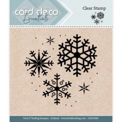 (CDECS065)Card Deco Essentials - Clear Stamps - Snowflake