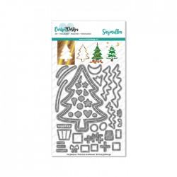 (CDSN-0113)CarlijnDesign Dies Outline Christmas tree