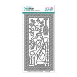 (CDSN-0111)CarlijnDesign Dies Slimline card 6 Champagne