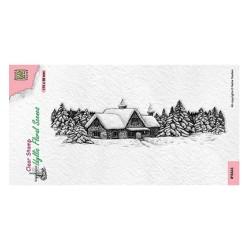 (IFS043)Nellie`s Choice Clearstamp - Slim line Snow house