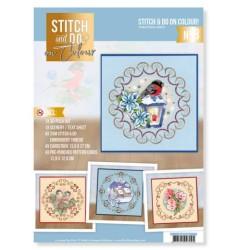 (STDOOC10008)Stitch and Do on Colour 008 - Christmas Birds