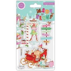 (CCSTMP070)Craft Consortium Made by Elves Sleigh Clear Stamps
