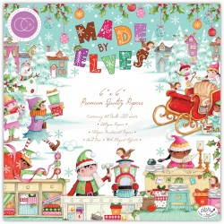 (CCPPAD029B)Craft Consortium Made by Elves 6x6 Inch Paper Pad