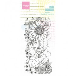 (MM1648)Arts stamps Sunflower