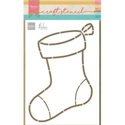 (PS8103)Marianne Design Craft stencils, Stocking by Marleen