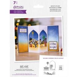 (GEM-STD-NAOL)Gemini Scenes of Light Stamp & Die Nativity of Light