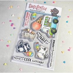 (T4T/725/Coo/Cle)Time For Tea Cool Critters Clear Stamps