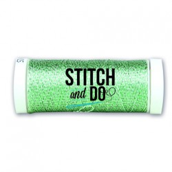(SDCDS13)Stitch and Do Sparkles Embroidery Thread - Silver-Green