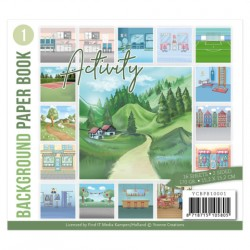 (YCBPB10001)Background Paper Book 1  - Yvonne Creations - Activity
