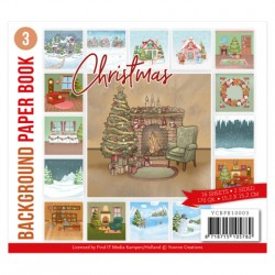 (YCBPB10003)Background Paper Book 3 - Yvonne Creations - Christmas