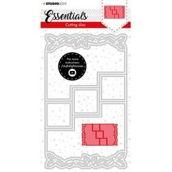 (SL-ES-CD72)Studio Light SL Cutting Die Christmas Card shape mini holly Essentials nr.72