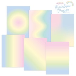 (GRO-AC-42018-XX)GROOVI DESIGNER RAINBOW PAPER - PASTEL RAINBOW A4