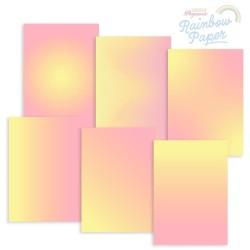 (GRO-AC-42014-XX)GROOVI DESIGNER RAINBOW PAPER - LEMON SORBET SUNRISE A4